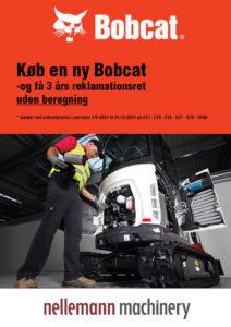 Køb en ny Bobcat og få 3 års reklamationsret